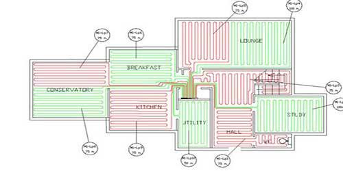 نقشه اجرایی گرمایش از کف